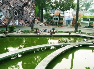 """Le monument """"ho con rua"""" (litt. lac de la tortue à TpHCM)"""