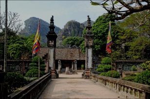Chua Dinh, centre Hoa Lu, Ninh Binh province, Nord Vietnam, Architecture Kien Truc Co