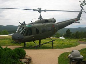 Helicopter Huey that served during the Vietnam War