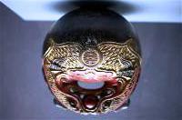 Mokugyo, instrument musical qui permet de rythmer les chants. Cet instrument est également utilisé dans le ca trù, chant classé dans le patrimoine immatériel mondial, par l'Unesco