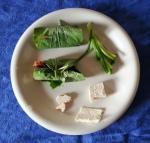 Brochettes végétariennes au tofu et champignon grillé